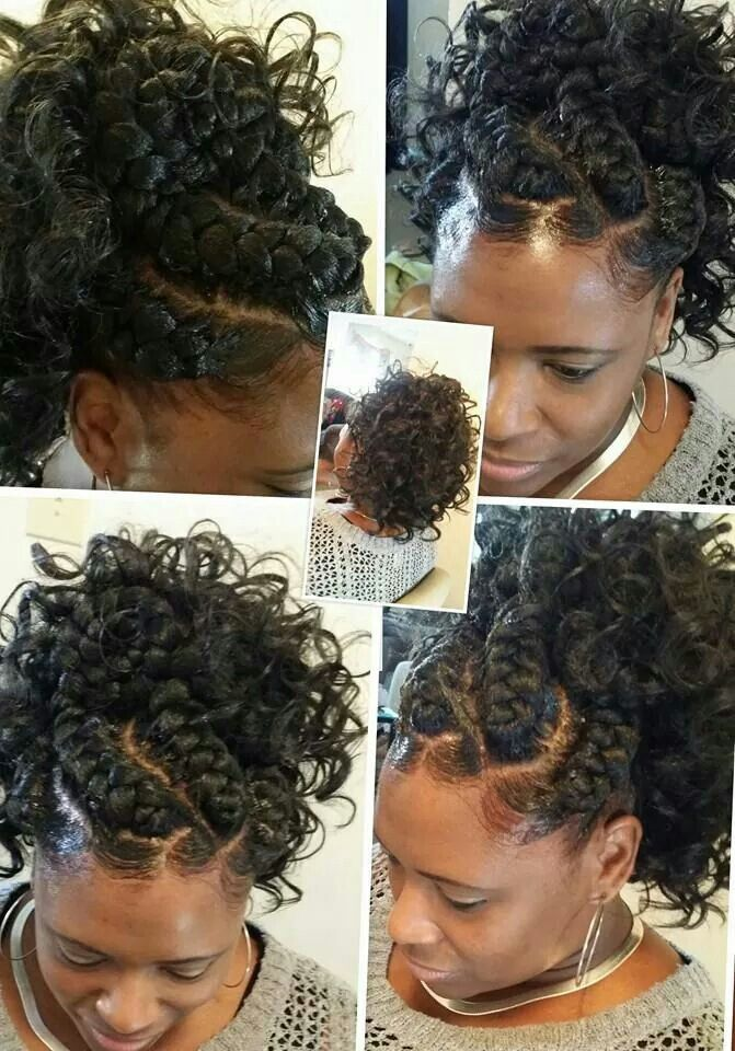 Goddess Braids With Ponytail By Darlean Thickyd Green Natural