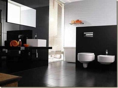 decoracion de baos en blanco y negro usualmente los decoradores de interiores y amas de casa evitan utilizar el color negro a la hora de decorar y hacer - Decoracion De Baos