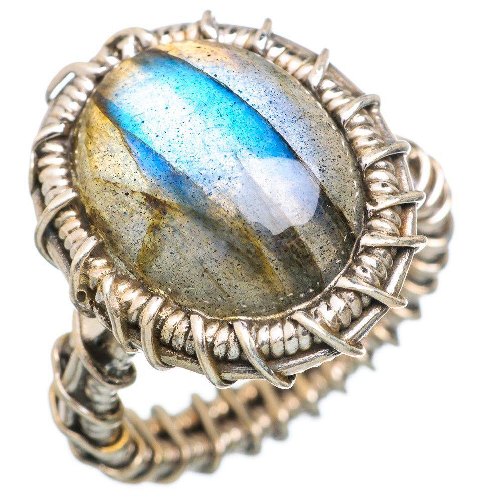 Labradorite 925 Sterling Silver Ring Size 6.5 RING765296