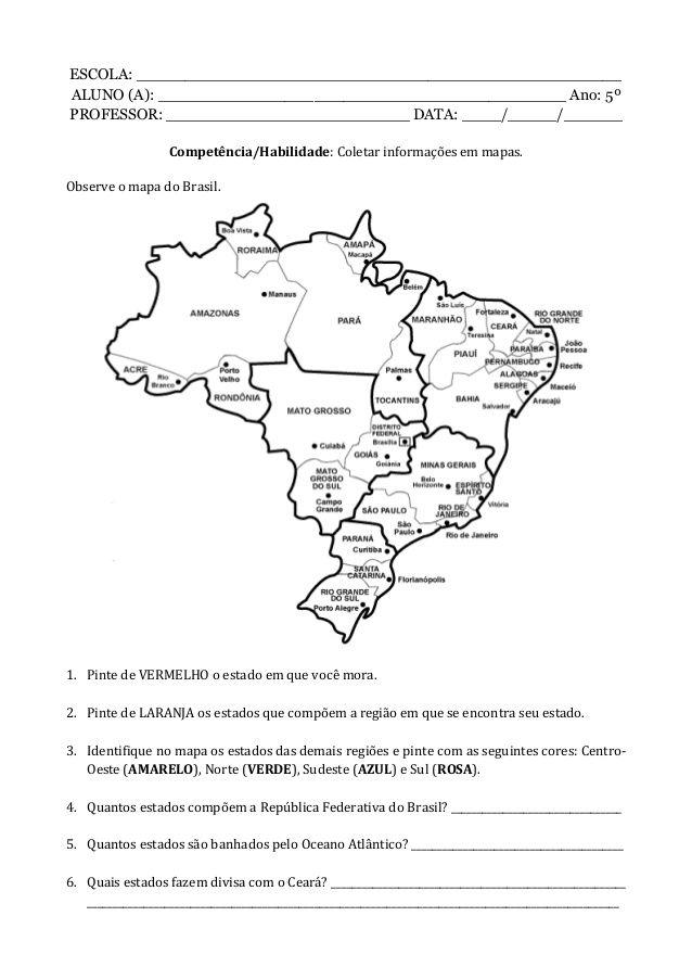 Pin De Karol Mayane Em Espaco Professora Atividades De Geografia