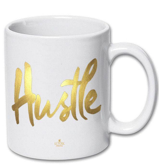 Hustle Ceramic Mug White
