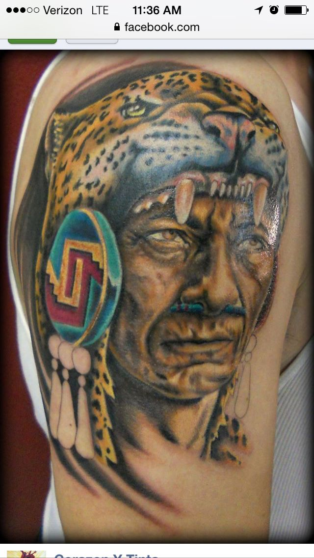 e87c30ca48747 Firme tattoo from corazon y tinta Aztec Warrior, Tatting, Art Ideas, Aztec,