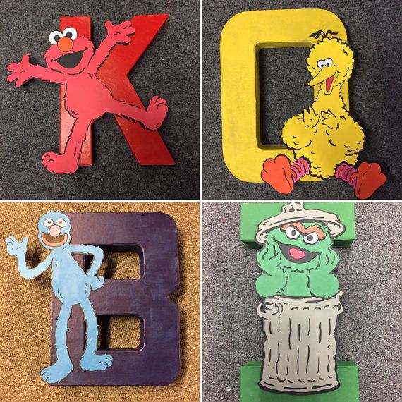 Sesame Street Letters by DesignsByBriStudio on Etsy
