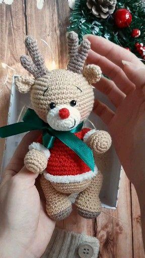 Photo of Amigurumi crochet pattern Christmas reindeer | amigurumi forest animanls