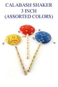 African Calabash Shakers (3 inch Assorted Colors) .. OM