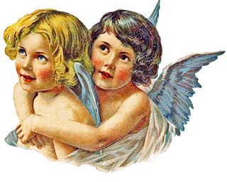 Free Vintage Clip Art I've Been Talkin' To My Angels