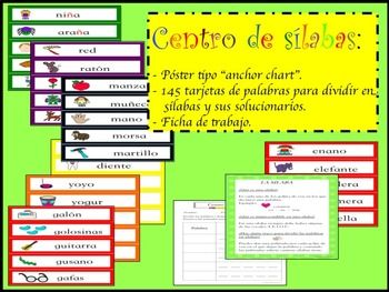 Spanish Literacy Syllable Center Word Wall Anchor Chart Anchor Charts Word Wall Words