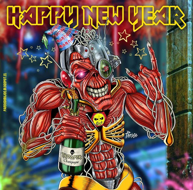PARDO DIBUJOS: IRON MAIDEN Happy New Year
