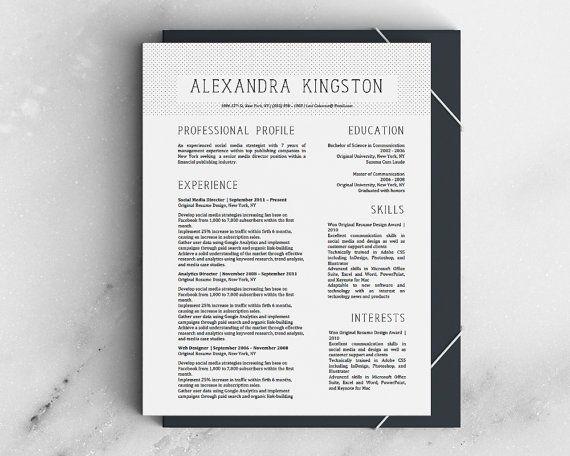 $125 Alexandra Kingston Modern FANCY Resume by OriginalResumeDesign