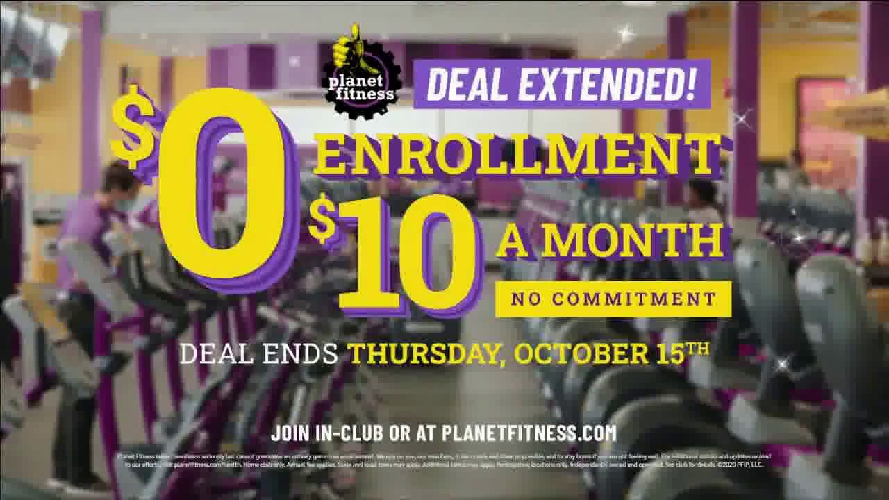 Planet Fitness No Enrollment Fee Extended Tv Commercial 2020 Planet Fitness Workout Tv Commercials Commercial Ads