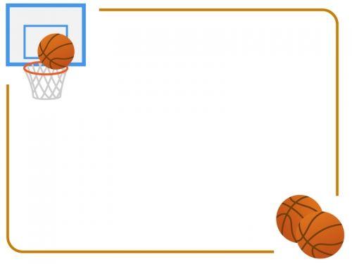 バスケットボールのフレーム飾り枠イラスト 無料イラスト かわいいフリー素材集 フレームぽけっと 2021 無料 イラスト かわいい イラスト スラムダンク イラスト