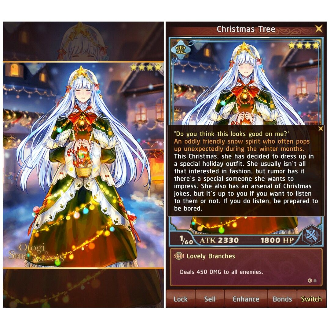 christmas tree from the cards game otogi spirit agents otogi