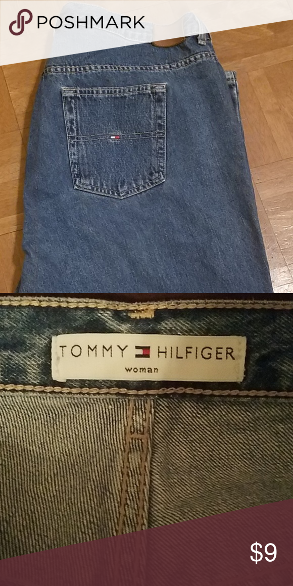 4808ac6a size 18 women's Tommy Hilfiger jeans back label faded jeans are in great  condition no holes Tommy Hilfiger Jeans Straight Leg