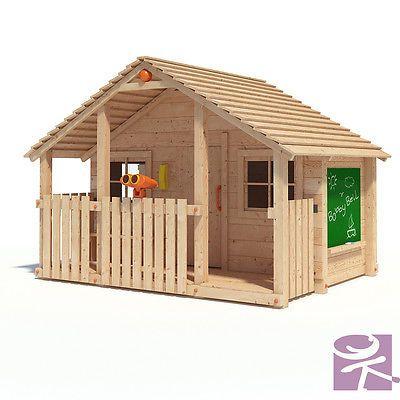 BOBBY BELL XXL Spielhaus Kinderspielhaus Gartenhaus Holz