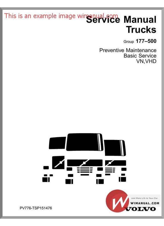 Volvo Truck Service Manual Pv776 Tsp151476