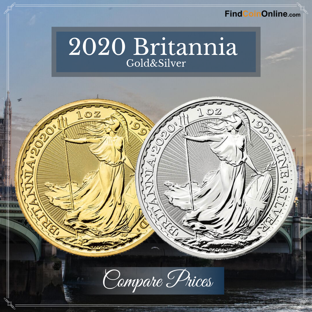 2020 Royal Mint Britannia Gold Silver 1 Oz Coins In Sale Silver Eagle Coins Coins Silver Bullion Coins