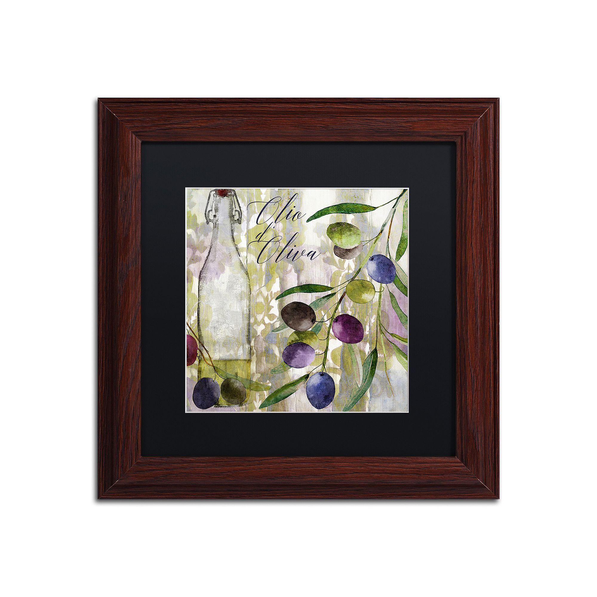 Trademark fine art colors of tuscany i framed wall art black