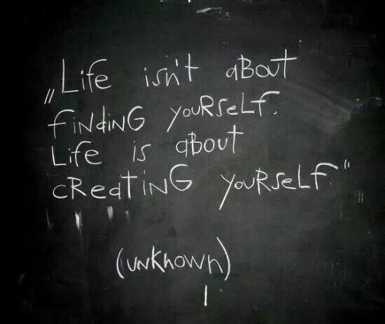 creating yourself...