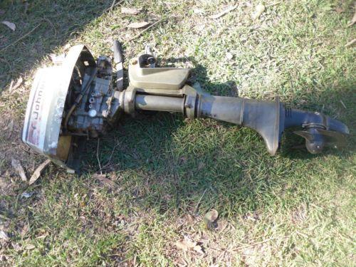 Vintage johnson 4hp outboard motor for parts or restoration