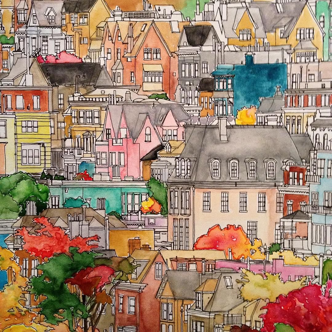 Fantastic Cities Coloring BooksAdult