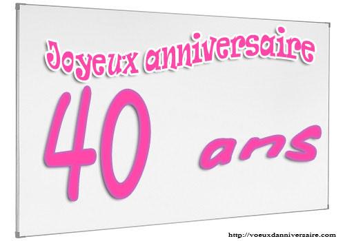 Invitations Anniversaire 40 ans personnalisables
