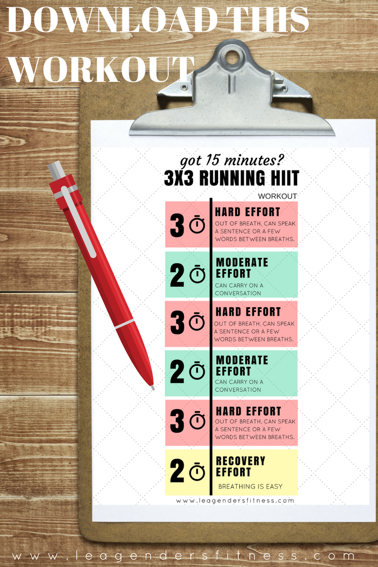 Got 15 minutes try this 3x3 running hiit workout pinterest download a printable pdf of the 3x3 running hiit workout or save to pinterest for later stopboris Choice Image