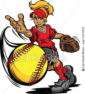 Softball animated. Pitching lauren girouard clipart
