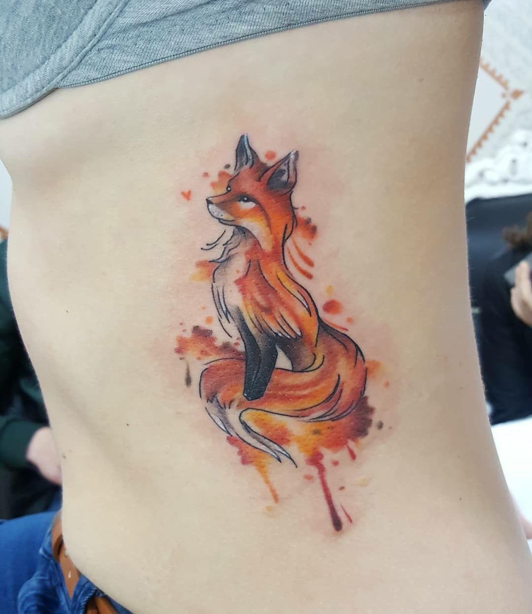 Cute Fox Tattoo Wolf Tattoos For Women Fox Tattoo Fox Tattoo Design