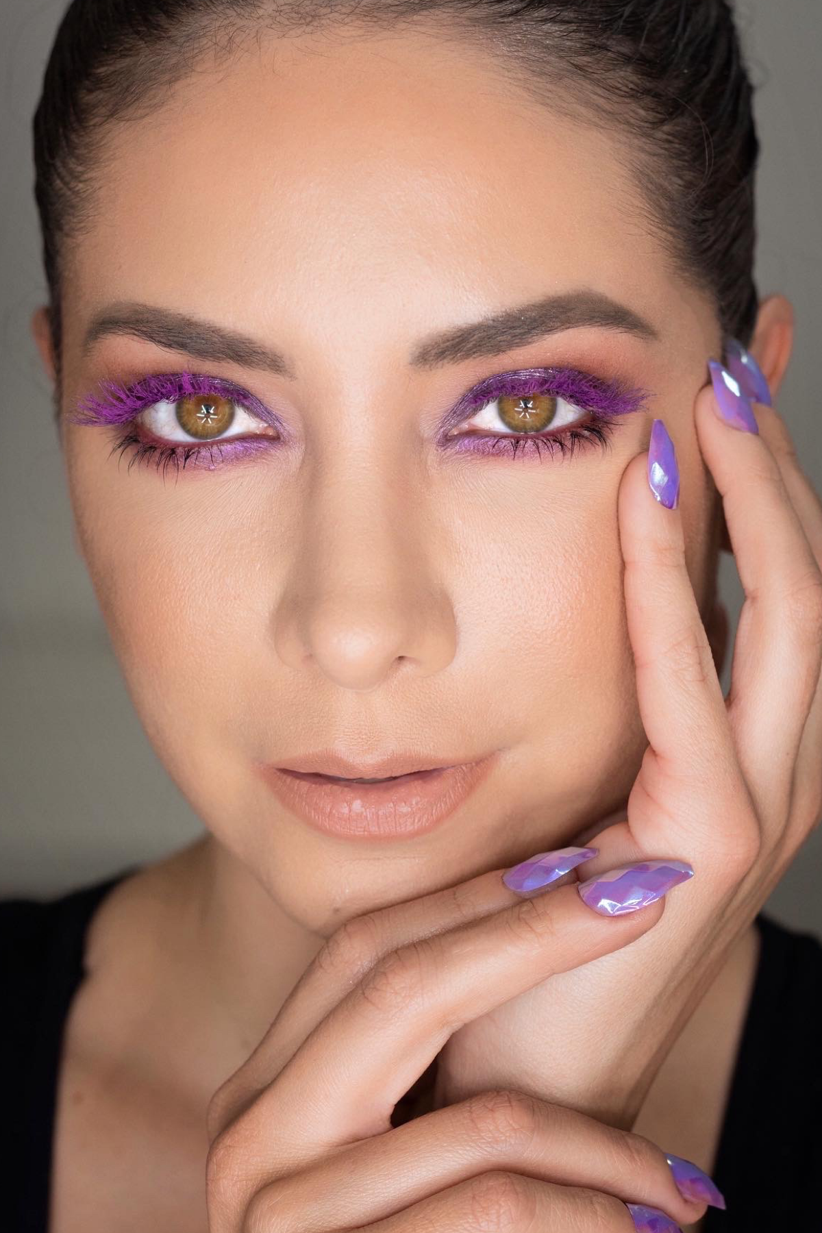 Colored lashes makeup trend in 2020 Artistic hair