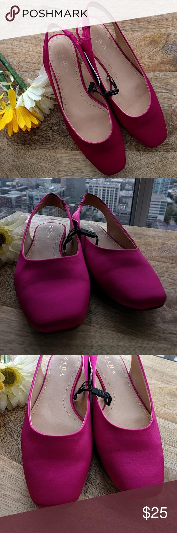 e41ee2d17e Zara pink/fuschia slingback flats size 38 NWT pink/fuschia slingback flats  size 38 EUR. 7.5 US Zara Shoes Flats & Loafers