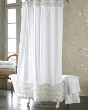 French style shower curtains add stylish texture and color to your private space.
