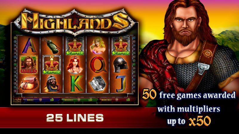 Highlands Video Slot Get 50 Free No Deposit Required