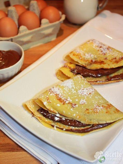 Crepes alla Nutella Bimby | Ricetta (con immagini