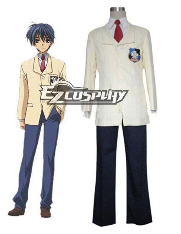 Clannad Male Hikarizaka Senior High School Uniform Cosplay Costume by Ezcosplay