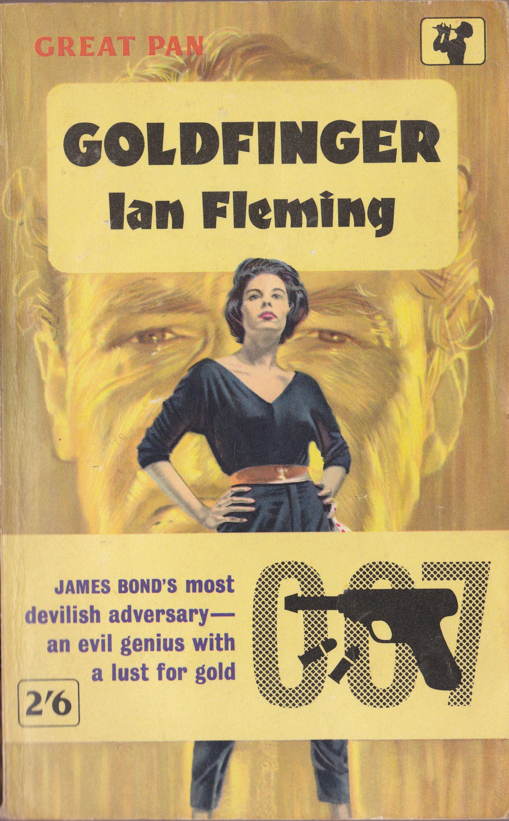 James Bond Book Cover Art : Ian fleming goldfinger great pan paperback