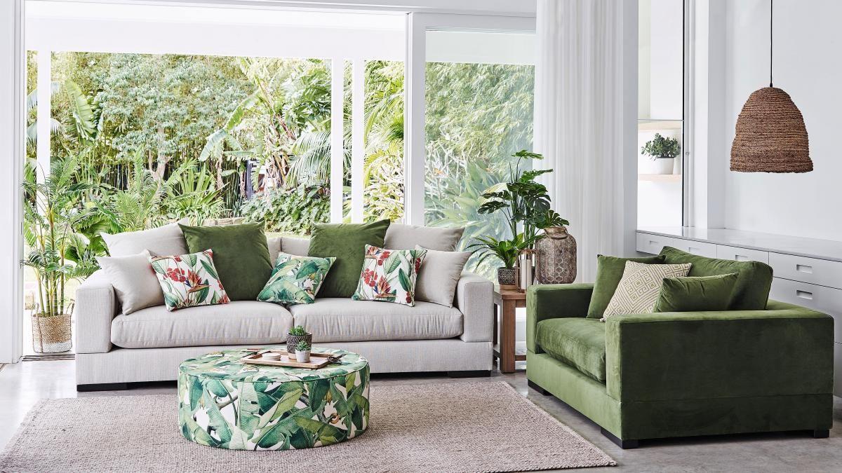 Buy Langham Fabric Sofa Harvey Norman Au Sofa Fabric Sofa Home Decor