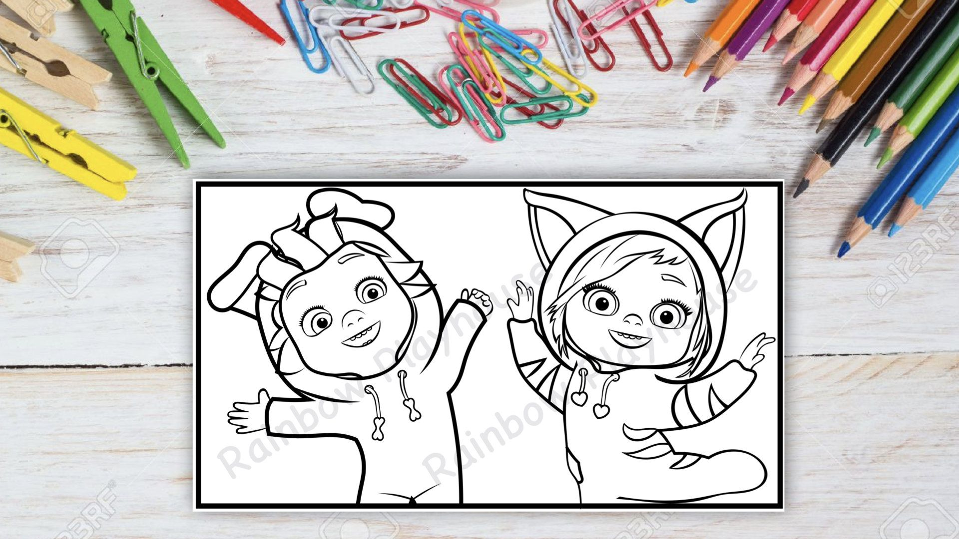 Set Of 3 Dave And Ava Printable Coloring Pages Great For Birthday Parties Dave And Ava Printable Coloring Printable Coloring Pages