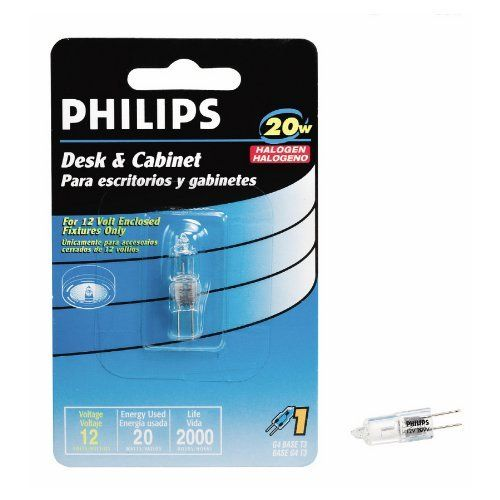 Philips Desk Cabinet 20w Halogen Bulb Bc20w T3 12v Capsule By Philips 8 99 For Desk Lamps And Cabinet Fixtures G4 Desk Cabinet Desk Lamps Halogen Bulbs