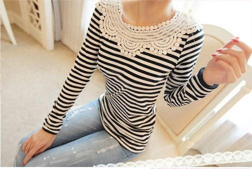 Sweet Stripes Long Sleeve T-Shirt