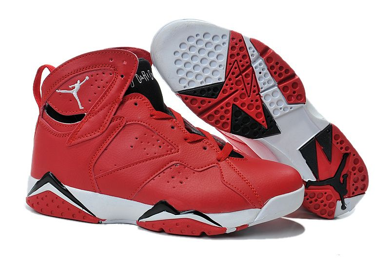 red and white jordans 7