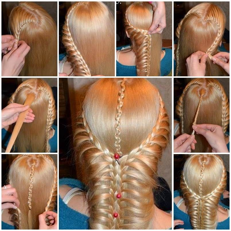 Here Is A Nice Tutorial On How To Make A Beautiful Braided Hairstyle This Romantic Hairstyle Starts With Two B Braided Hairstyles Long Hair Styles Hair Styles