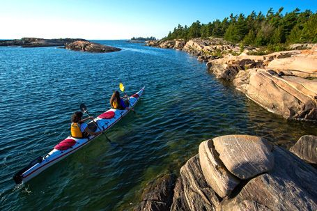 Paddle in a UNESCO World Biosphere Reserve With over 30,000 islands, covering more than seven times the area of Wales, and some of the very best sea kayaking and sunsets in the world, Georgian Bay is a world of kayaking adventures waiting to be discovered
