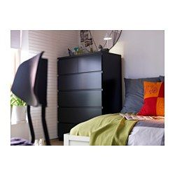 MALM Commode 6 tiroirs Brun noir 80x123 cm | Malm, Drawers and ...
