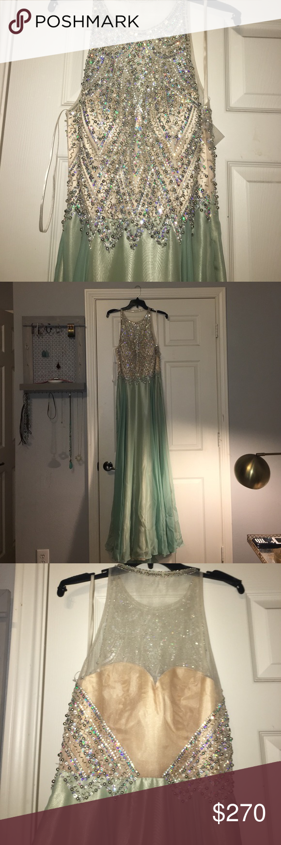 Never been worn sold out terry costa prom dress this dress is