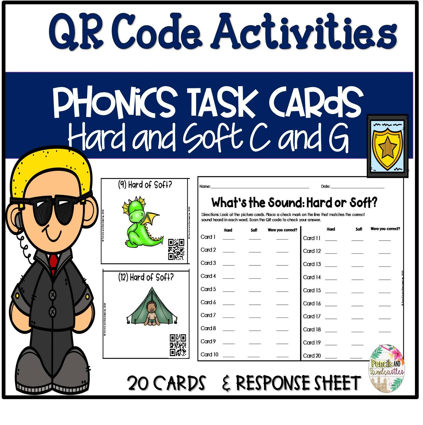 20 Task Cards For Students To Differentiate The Hard And