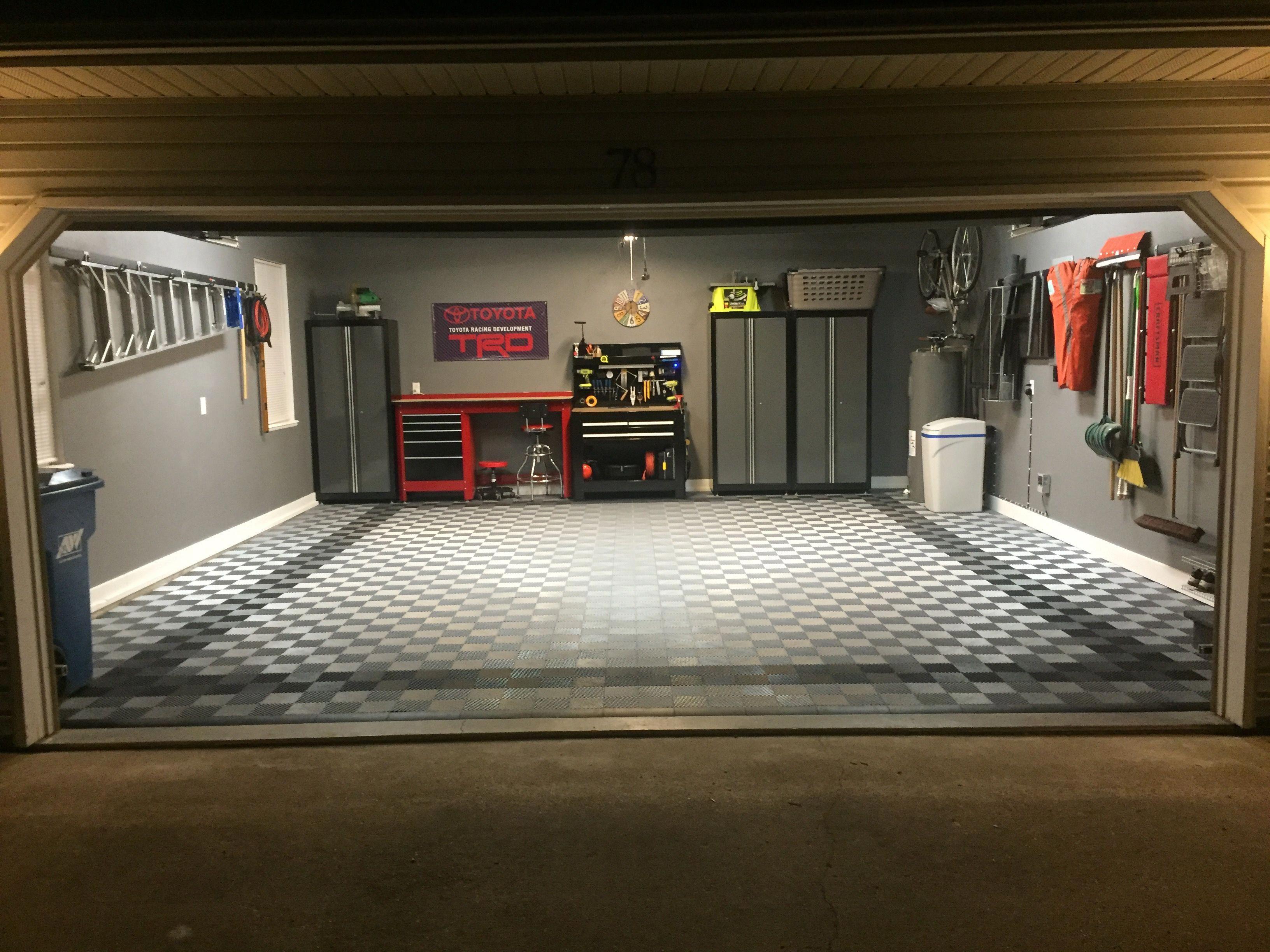 Garage Floor Tiles Outside Garage Decorating Ideas Garage