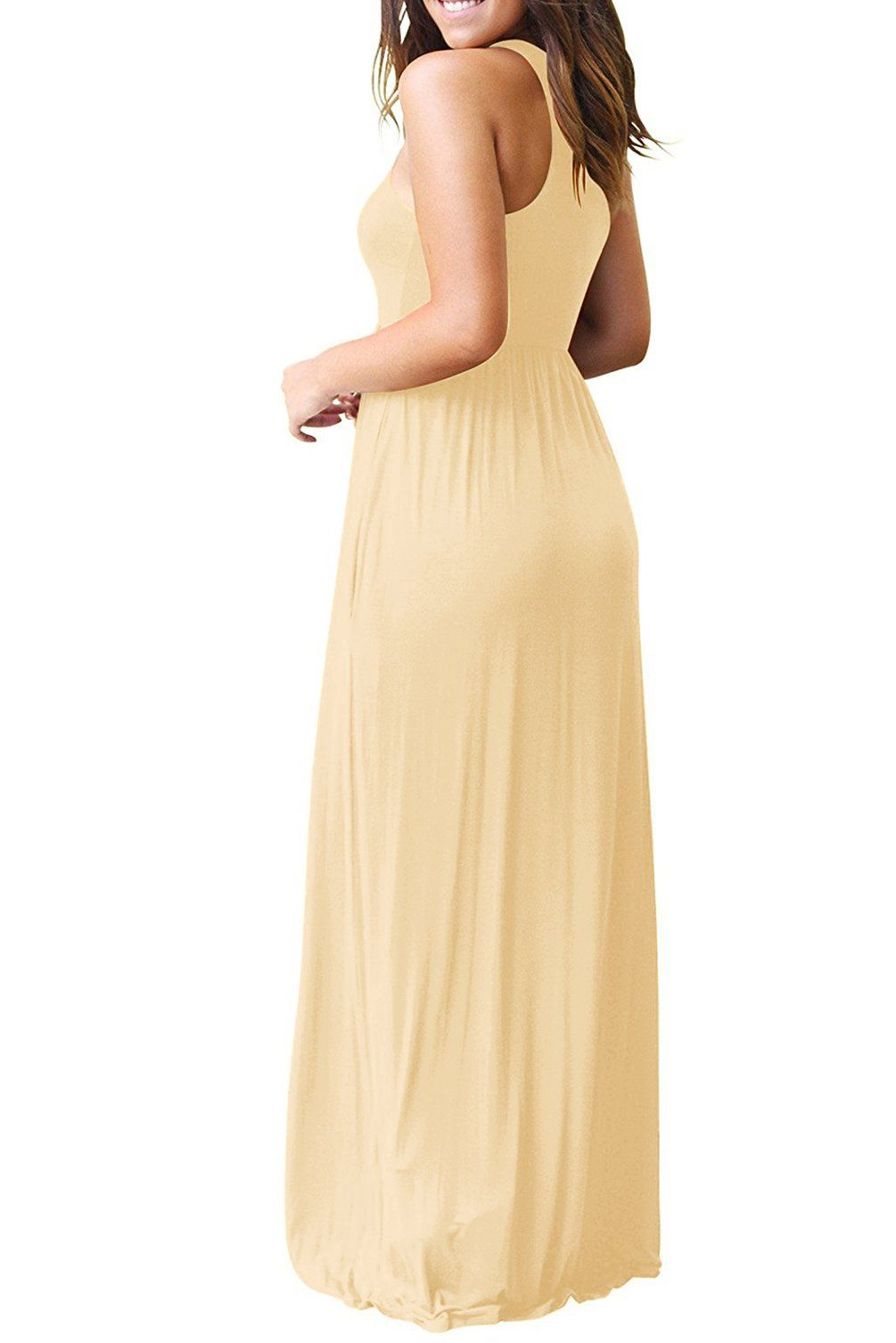 Women maternity clothes hervive sleeveless maxi dress with pockets