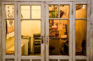 Shopkeepers are never far away. Photograph: Boris Le Montagner
