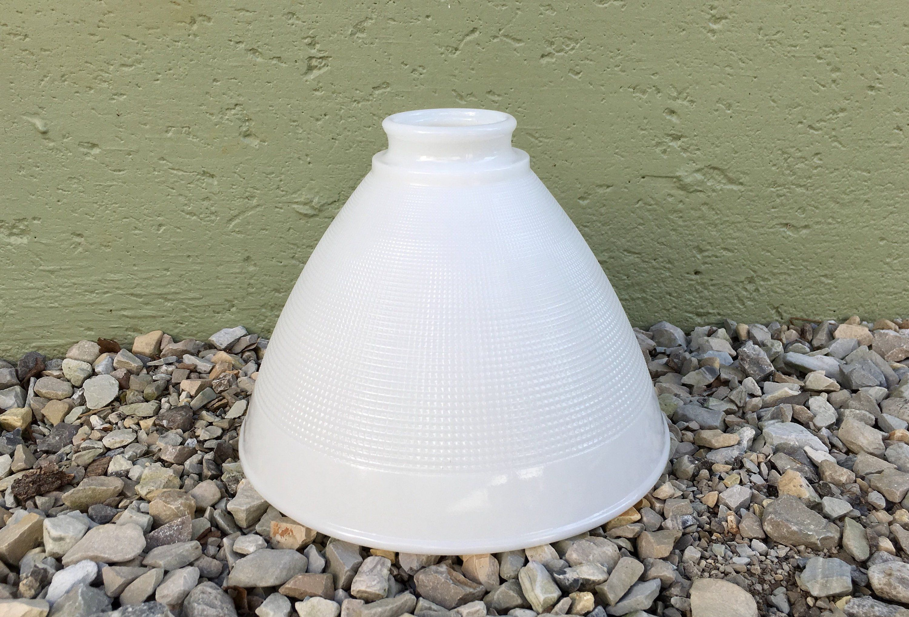 Vintage Milk Glass Mid Century Replacement Globe Retro Style Lighting Honeycomb Waffle Weave Floor Table Lamp Dif Retro Floor Lamps Vintage Lighting Milk Glass