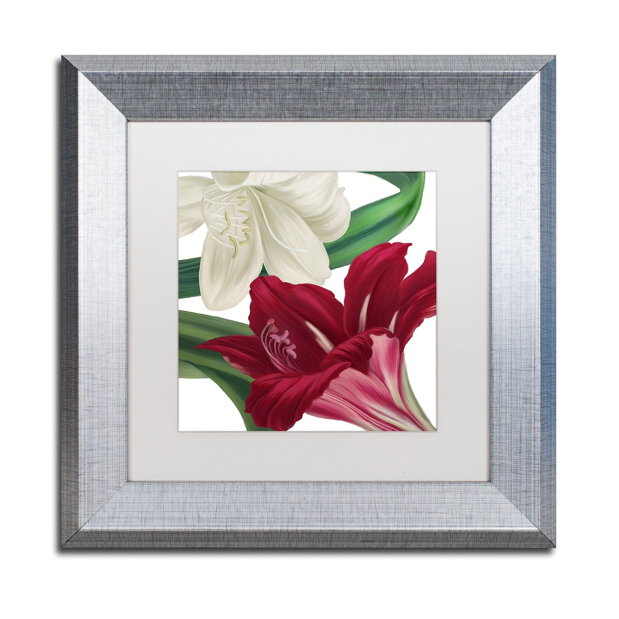 Color Bakery uChristmas Amaryllis IIu Matted Framed Art Products
